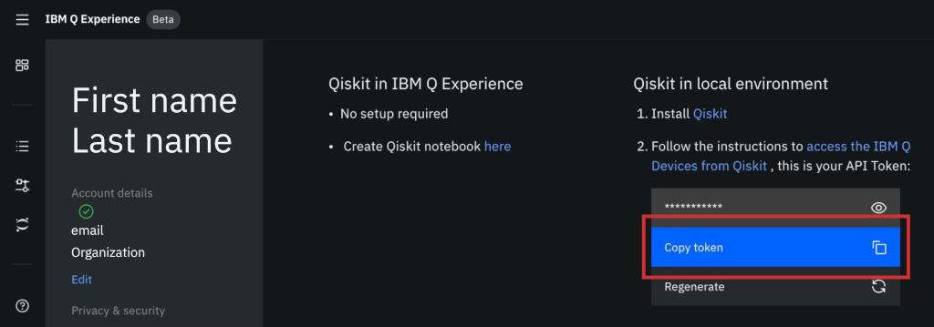 IBM Q Token