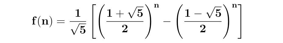 Fórmula de fibonacci
