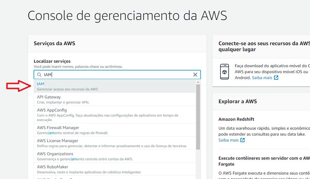 Console da AWS